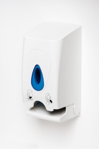 Brightwell Dispensers' twin toilet roll dispenser